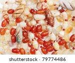 the texture of  from the semi precious stone jasper and the quartz - stock photo