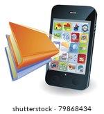 Smartphone book conceptual illustration - stock vector