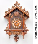 Cuckoo Clock From The Black Forest, Germany - stock photo