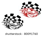 Racing cars and symbols for sports or tattoo design, such a logo. Vector version also available in gallery - stock photo