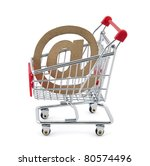 Online shopping. Clipping path included - stock photo