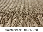 Brown woven straw - stock photo