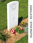 Canadian memorial and cemetery in Normandy france - stock photo