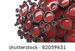 3D background for company presentation red - stock photo