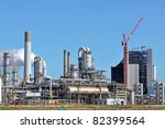 oil and gas refinery - stock photo