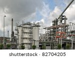 oil refinery in Rotterdam Netherlands - stock photo