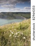 Chapmans Pool on the Jurassic Coast and Isle of Purbeck in Dorset, England, UK - stock photo