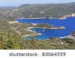 Paleokastritsa gulf on Corfu island, Greece - stock photo