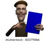 School teacher demand critical attention on certain book - stock photo