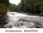 Wilson Falls in Muskoka, Ontario - stock photo