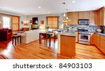 Town home with open floor plan - stock photo