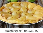 French traditional pie Tarte Tatin with pears - stock photo