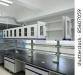 modern laboratory - stock photo