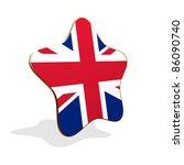 United Kingdom flag STAR BANNER - stock photo