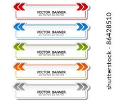 vector set of color banners with arrows - stock vector