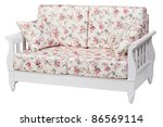 New cozy sofa over white, with clipping path Note to editor: - stock photo