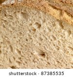 detail of a brown bread - stock photo