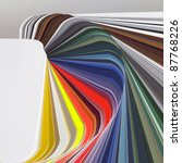 abstract background showing a spread color chart - stock photo