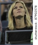 NEW YORK - AUGUST 31: Brooklyn Decker attends 1st round match between Andy Roddick of USA & Michael Russell of USA at USTA Billie Jean King National Tennis Center on August 31, 2011 in New York City. - stock photo