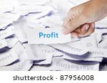 Word profit in hand, business concept - stock photo