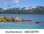 Picturesque scenery on Lofoten Islands, Norway - stock photo