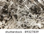 crystallized quartz  / mountain crystal - stock photo