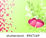 Love hearts and background / valentine's or wedding / vector illustration - stock vector