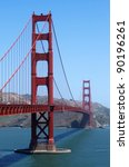 View of the Golden Gate bridge in San Francisco, California. - stock photo