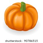 Illustration of a fresh tasty orange pumpkin - stock photo