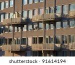 Apartments in suburban neighborhood - stock photo