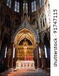 Votive Church (Votivkirche) in Vienna, Austria. - stock photo