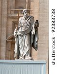 Statue of Saint Paul the Apostle in Rome - stock photo