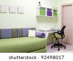 Children's room interior design - stock photo