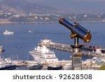 binoculars view at Monaco, Monte Carlo - stock photo