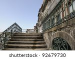 Stairs in Oporto - stock photo