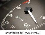 Car dashboard - stock photo