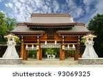 Minatogawa Shrine in Kobe, Japan. - stock photo