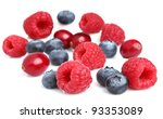 Fresh berries on a white background - stock photo