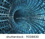 binary stream - stock photo