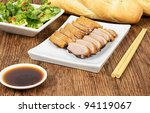 Vit Hom Khoi - Vietnamese tea smoked duck breasts - stock photo