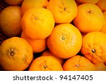 Fresh Oranges Background - stock photo