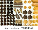 Forms of chocolate - stock photo