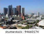 Downtown Los Angeles skyline - stock photo