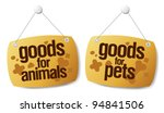 doods for pets signs set - stock vector