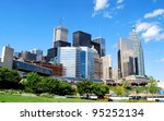 High Rise Buildings in Downtown Toronto, Canada - stock photo