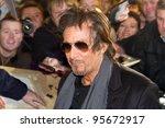 DUBLIN, IRELAND - FEBRUARY 20: Al Pacino attend at premiere of his Wilde Salome movie at Jameson Dublin International Film Festival in Savoy Cinema on February 20, 2012 Dublin, Ireland - stock photo