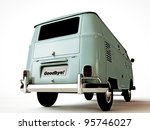 van number plate say goodbye - stock photo