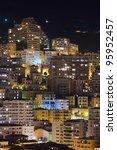 Monte Carlo city, Monaco, night buildings - stock photo
