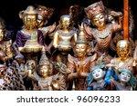 different  Buddha artwork decoration - stock photo