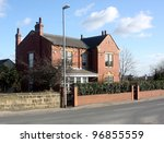 Detached house Ouzlewell Green nr Wakefield - stock photo